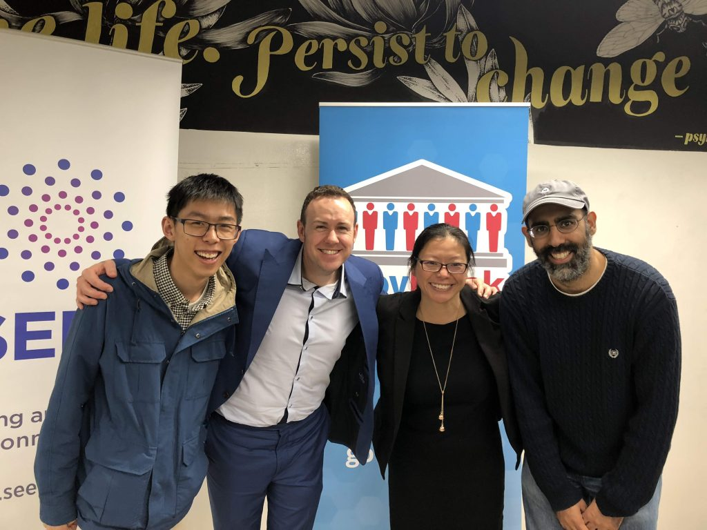 Picture of the 4 founders of CrowdQuests